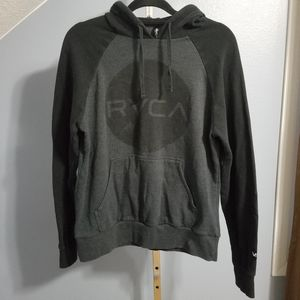 RVCA Black and Gray Logo Hoodie